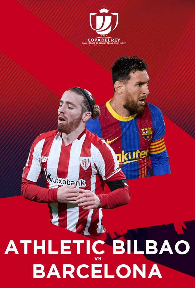 Athletic Bilbao-Barcelona (Copa del Rey 2020-21) -drejtpërdrejt