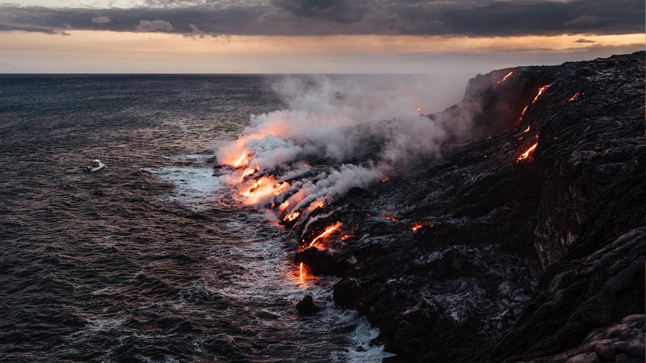 Islanda fare pranë vullkanit